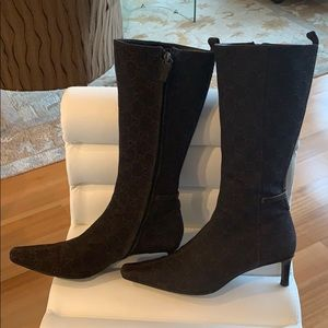 Gucci brown boots size 7 1/2